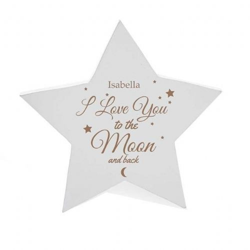 Personalised To The Moon & Back Star Plaque